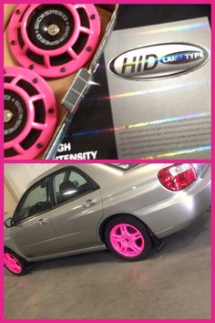 My hubby got me awesome bday gifts HIDS  Pink rims Pink Hellas  Pink MK wallet Pink skull tote Pink ink sweater He truly spoils me  I love him