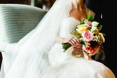 Tuscan in Tremblant — Full Bloom - bride's bouquet - garden rose - rustic - vintage Bride Bouquets, Wedding Inspiration, Bloom, Stylish, Rose, Wedding Dresses, Beautiful, Vintage, Rustic