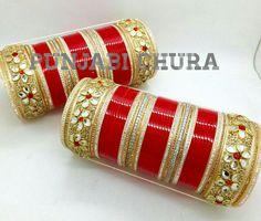 Indian Jewelry Earrings, Indian Wedding Jewelry, Hand Jewelry, Bridal Bangles, Bridal Jewelry, Pakistani Wedding Outfits, Punjabi Wedding, Chuda Bangles, Wedding Chura