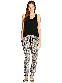 Leaf print trousers #houseoffraser