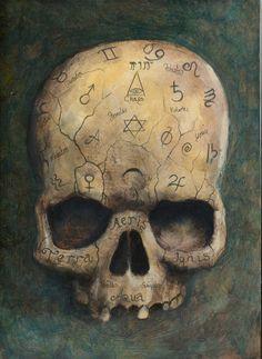 skull of a witch by HOMELYVILLAIN.deviantart.com on @deviantART