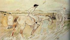 "artist-lautrec: ""Is it Enough to Want Something Passionately ( The Good Jockey ), 1895, Henri de Toulouse-Lautrec """