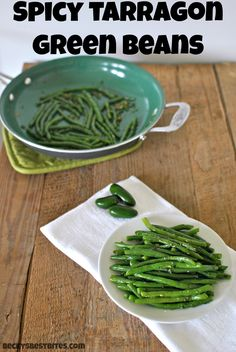 Spicy Tarragon Green Beans, garlic, jalapenos and tarragon infuse fresh green beans with bursting flavors that make a side dish worthy of a special occasion. #sidedish #holidayrecipe #healthyrecipe by beckysbestbites.com
