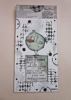 Design-54.  (Pin#1: Bird Crazy...  Pin+: Friends/ Background: Stamped).