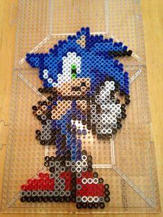 Sonic the Hedgehog perler bead hama bead pattern pixel art fuse beads -KitsuneKay