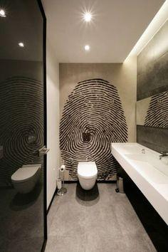 Afbeeldingsresultaat voor behang toilet