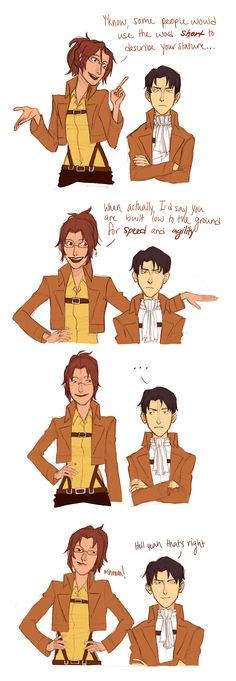 This is why he likes Hanji the most :3 bff hanji and Levi attack on titan