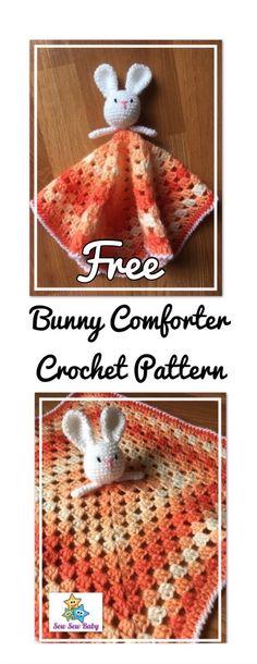 Free Bunny / Rabbit Comforter Security Blanket Crochet pattern