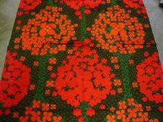 "Tampella Finland Marjatta Metsovaara ""Katinka"" Vintage Fabric Early 80's"