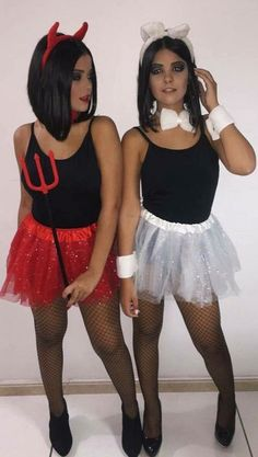 Cute and Unique Halloween Costume Ideas for Women 2018 Cute Matching Angle and Devil Best Friends Halloween Costume Ideas for Women - lindas ideas de disfraces de halloween para mujeres - www. Most Creative Halloween Costumes, Matching Halloween Costumes, Best Friend Halloween Costumes, Cute Costumes, Couple Halloween, Halloween Outfits, Costumes For Women, Costume Ideas, Girl Halloween