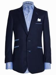 Angelo Galasso - Blue on blue sports coat | button down
