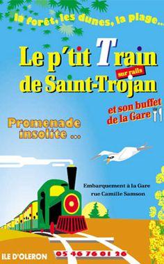 Création du site Internet du P'tit Train de Saint-Trojan sur l'Ile d'Oléron.