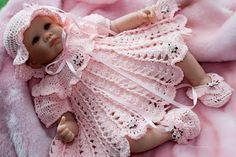 Mary Helen artesanatos croche e trico: Conjunto bebê gracioso