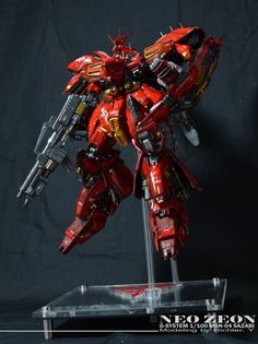 GUNDAM GUY: G-System 1/100 Sazabi - Painted Build