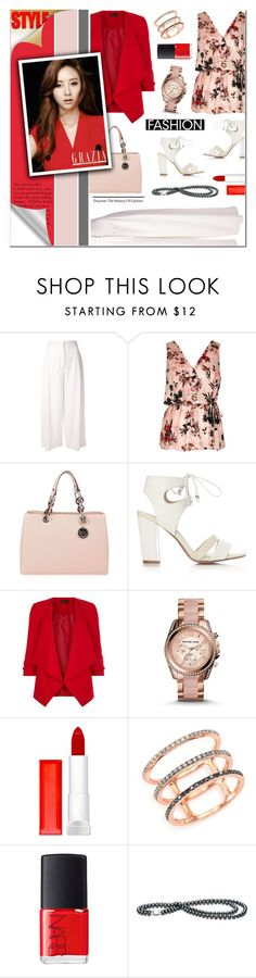 """""""Floral print top"""" by anyasdesigns ❤ liked on Polyvore featuring Proenza Schouler, MICHAEL Michael Kors, Michael Kors, Maybelline, EF Collection and NARS Cosmetics"""