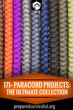 Paracord projects - find paracord projects for survival. These paracord projects are great when you need to survive in the wild. Paracord should be in you bug out bag. projects diy Paracord Projects: The Ultimate Collection - Prepared Survivalist