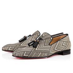 CHRISTIAN LOUBOUTIN Dandelion Tassel Tresse Royal Black/White Rafia - Men Shoes - Christian Louboutin. #christianlouboutin #shoes #