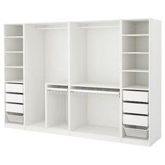 kleiderschrank ideen # Wardrobe ideas elvarli PAX Corner wardrobe - white - IKEA About alternative h Pax Corner Wardrobe, Pax Wardrobe, White Wardrobe, Wardrobe Storage, Wardrobe Ideas, Ikea Closet Shelves, Closet Organization, Organization Ideas, Kallax Shelf