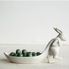 Our White Stoneware Rabbit Pulling Leaf Dish is an adorable addition to your spring decor. Visit Antique Farmhouse for more rabbit decor and stoneware dishes. Dish Storage, Plate Storage, Closet Storage, Ceramic Pottery, Ceramic Art, Home Decor Accessories, Decorative Accessories, Do It Yourself Decoration, Ideias Diy