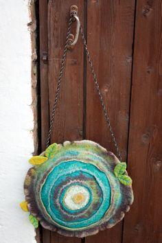 Felted Bag Handbag Purse Felt Nunofelt Nuno by Feltsongs by jodi Needle Felting Tutorials, Felt Purse, Textile Fiber Art, Art Bag, Nuno Felting, Handmade Felt, Felt Art, Wool Felt, Fabric Crafts