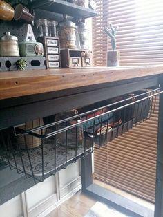 Diy Interior, Cafe Interior, Diy Kitchen, Kitchen Ideas, Home Organization, Home Kitchens, Architecture, Diy Furniture, Tap Room