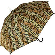 Tiger Print Hook Handle Umbrella
