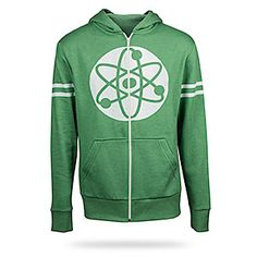 ThinkGeek: Big Bang Theory Atom Hoodie. Would love to get this for my Chem major brother.