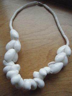 Vintage White Shell Necklace  1970's Shell Necklace by gammiannes, $10.00