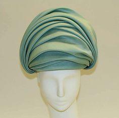 Hat   Halston  (American, 1932–1990)   Date: 1962-1963   Material: silk   The Metropolitan Museum of Art, New York