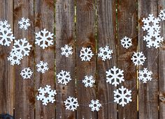 Christmas Garland, Snowflake Garland, Christmas Decor, Holiday Decor, Winter Mantle Decor, Snowflake Party Banner, Baby Shower by MailboxHappiness on Etsy https://www.etsy.com/listing/168350075/christmas-garland-snowflake-garland