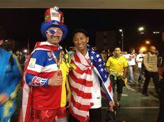 Torcedores na saída do Maracanã, Final da Copa do Mundo 2014...