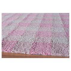 "Gingham Rug - Pink - (2'3"" x7'6"") - Momeni"