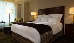 An example of a guest room at the Philadelphia Marriott Downtown, official PRSA 2013 International Conference Hotel