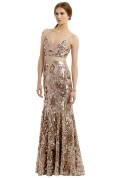 White and Gold Wedding. Gold Bridesmaid Dress. Soft and Romantic. Badgley Mischka Glisten Up Gown