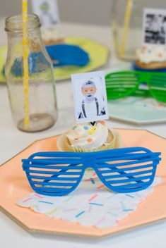 """Christy, of ItsyBelle, is sharing her son's second birthday that is just """"two"""" cool. We are loving the sweet sprinkle backdrop and sunglasses accents. 2nd Birthday Party For Boys, Second Birthday Ideas, Baby Boy Birthday, Frozen Birthday Party, Sons Birthday, Birthday Party Favors, Friend Birthday, Birthday Recipes, Birthday Decorations"""