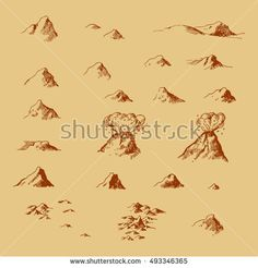 Old map mountains light theme