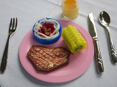 DIY American Girl doll ~ food all kinds of food items to make yourself. check it out.