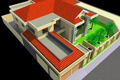 Projet de construction d'une Villa a Cotonou au Benin | Albert Kwessi Row House Design, Box Architecture, Architectural House Plans, Villa, Construction, Building Plans, Photos, Houses, Gallery