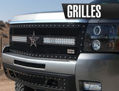 Show case of an aftermarket billet grill for a truck