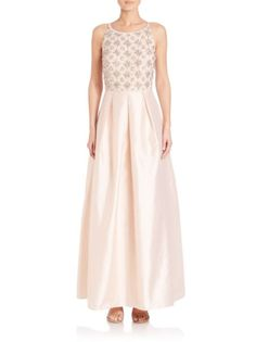 Aidan Mattox - Beaded Taffeta Gown