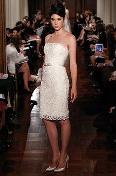 Vestido de noiva curto com renda!