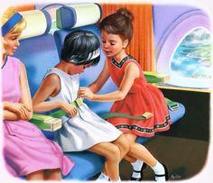 """Martine en avion"" de Marcel Marlier"