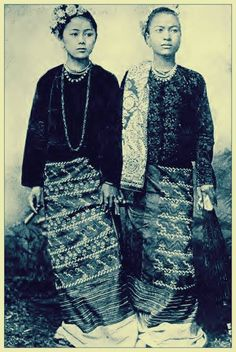 A portrait of two unidentified Burmese ladies c. 1900.