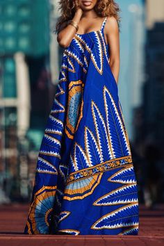 Wakanda Maxi Dress - African Print - Women's style: Patterns of sustainability African Inspired Fashion, African Print Fashion, Africa Fashion, Ethnic Fashion, Fashion Prints, African Print Dresses, African Fashion Dresses, African Dress, African Prints