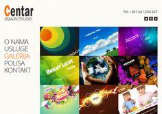 Centar Dizajn je All-in-one-page web sajt.
