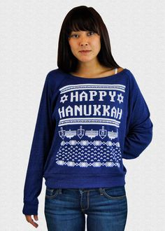 750b4d43 Hanukkah Sweater Ladies Women's Happy Hanukkah Sweater Ugly Funny Women's  Funny Hanukkah Sweater For Jewish Women Judaica