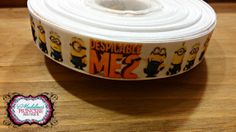 1 yard of Despicable Me 7/8 inch Grosgrain by MadelinesOnlineStore, $0.75