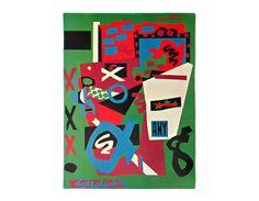"""Stuart Davis """"Semé"""" poster, c.1970. Graphic design education by Reinhold Visuals"""