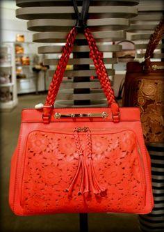 Valentino, Red Demetra Tote. #fashion #handbags