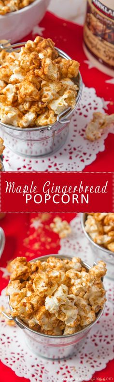 Our mouths are watering with this homemade Maple Gingerbread Popcorn! This snack is perfect for the holiday season and it tastes absolutely delicious :)